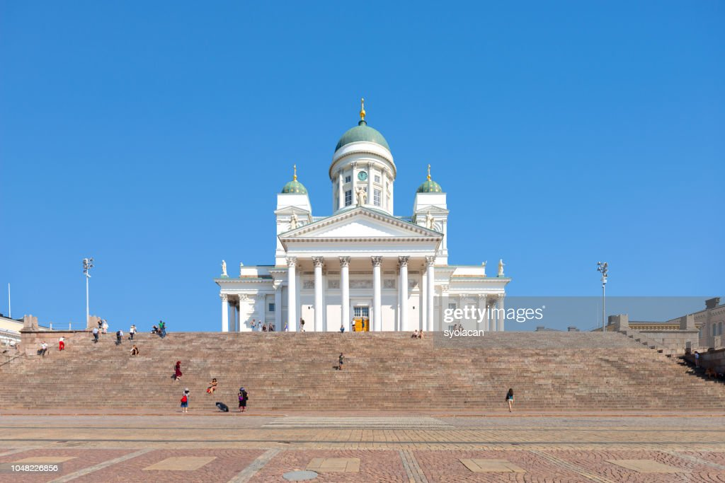 St. Nicholas Church at Senate Square, Helsinki : Stock Photo