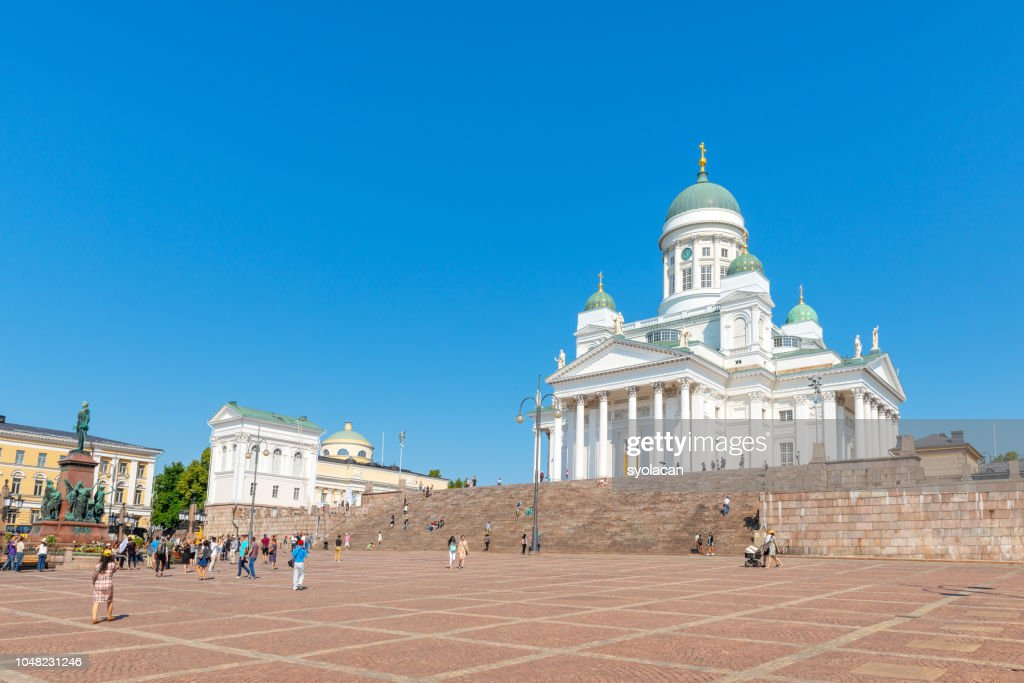 St. Nicholas Church at Senate Square, Helsinki : Stock Photo
