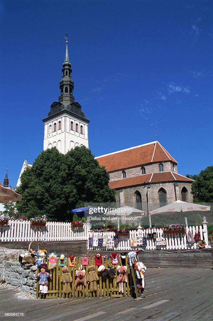 St. Nicholas Church, Old Town, Tallinn, Estonia : Stock Photo