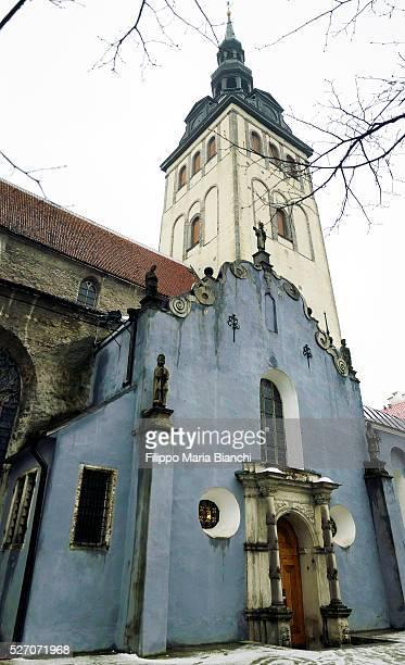 st. nicholas' church, tallinn - st nicholas' church stock pictures, royalty-free photos & images