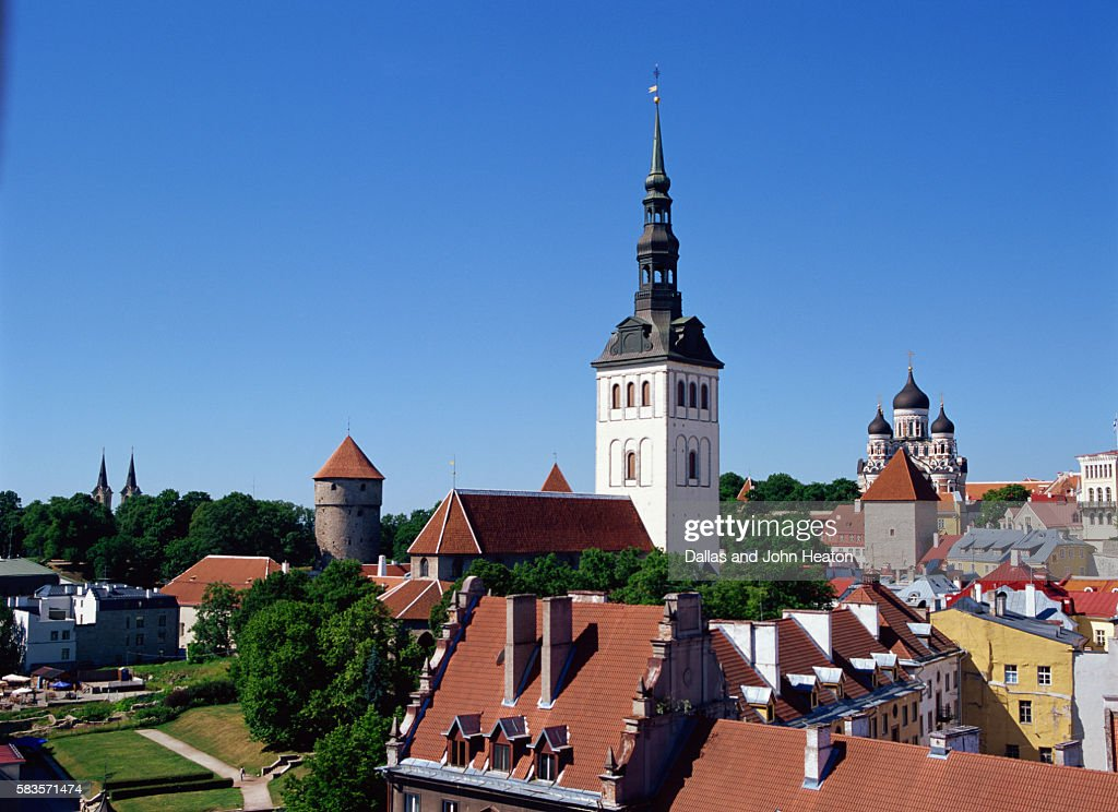 St. Nicholas Church, Toompea, Old Town, Tallinn, Estonia : Stock Photo