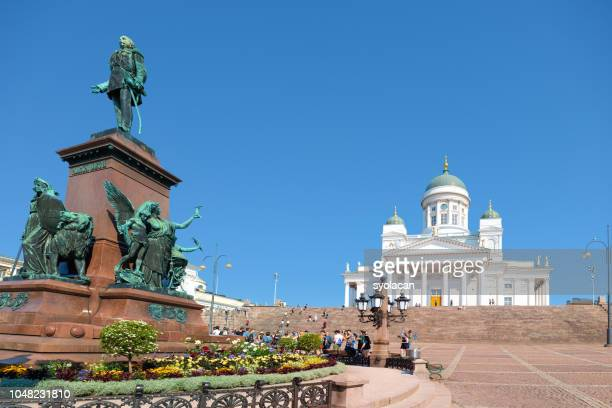 St. Nicholas Church with Monument Alexander II, Helsinki