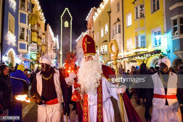 st. nicholas in sterzing (vipiteno) - st. nicholas stock photos and pictures