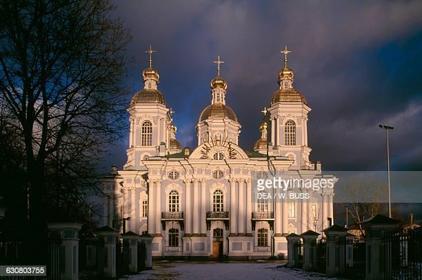 St Nicholas Naval Cathedral, 1753-1762, dedicated to sailors, by Savva Chevakinsky , Saint Petersburg . Russia, 18th century.