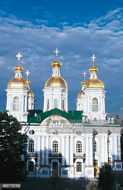 St Nicholas Naval Cathedral 18th century Elizabethan Baroque style St Petersburg Russia