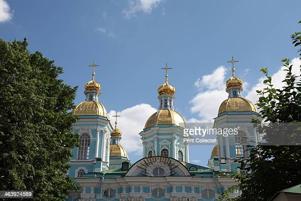 St Nicholas Naval Cathedral, St Petersburg, Russia, 2011. The Baroque cathedral was designed by Savva Chevakinsky and built between 1753 and 1762....