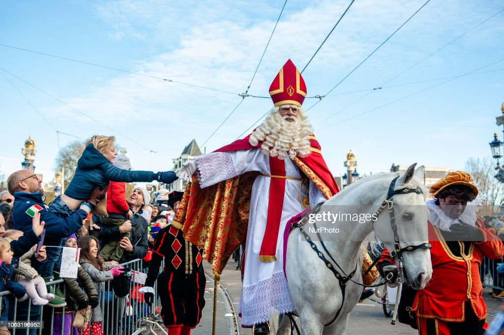 Grand Arrival Of St. Nicholas To Amsterdam : ニュース写真