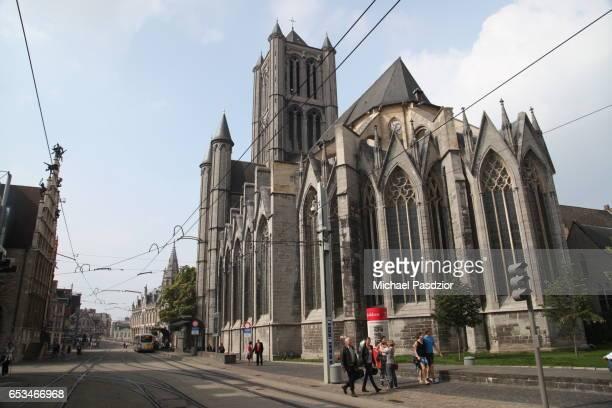 st. niklaas church - 東フランダース ストックフォトと画像