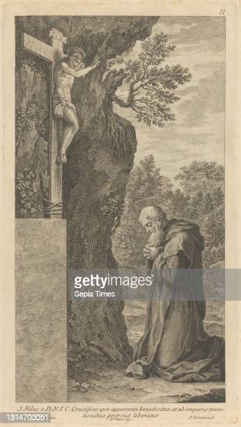 St. Nil, Print made by Francesco Bartolozzi RA, 1728–1815, Italian, active in Britain , after Niccolo Vanni, active 1750–1770, Italian, after...