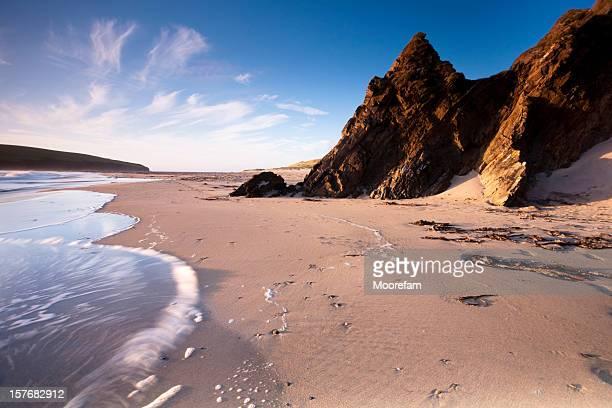 isola di saint ninian shetland - isole shetland foto e immagini stock