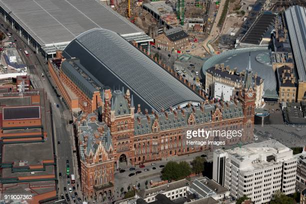 St Pancras Station Camden London 2012 The Gilbert Scott Midland Grand Hotel provides a facade for the train shed of 1868 Beyond this is the...