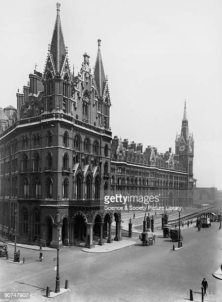St Pancras Station in Euston Road London c 1927 With its elegant train shed designed by William Barlow and the magnificent frontage of Sir George...