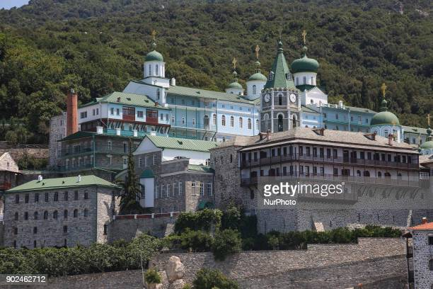 St Panteleimon Monastery or as it widely known the quotRussian or Rossikonquot monastery in Mount Athos Built in 11th century and hosting at its peak...
