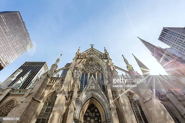 st. patrick cathedral, manhattan, new york, usa - st. patricks cathedral manhattan stock photos and pictures