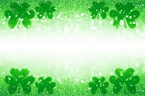 St Patrick Day Shamrock Irish Lucky Green Background Backdrop 913240436