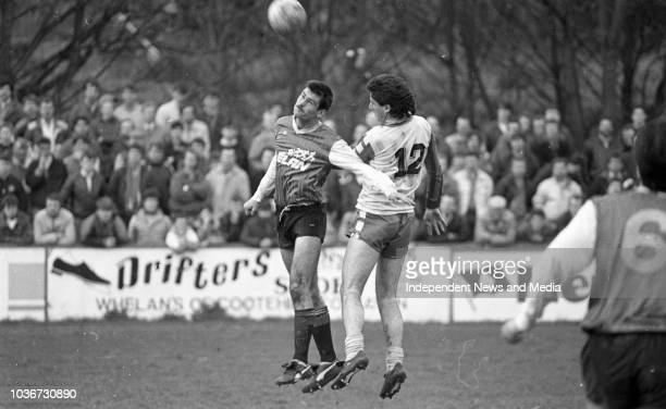 St Patricks Athletic FC Vs Limerick FC League of Ireland match in Richmond Park, circa March 1988 . .