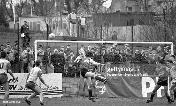 St Patricks Athletic FC Vs Limerick FC League of Ireland match in Richmond Park, circa March 1988 . .