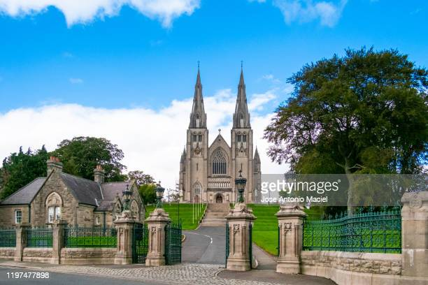 st patrick's cathedral (roman catholic), in armagh, - ireland stock pictures, royalty-free photos & images