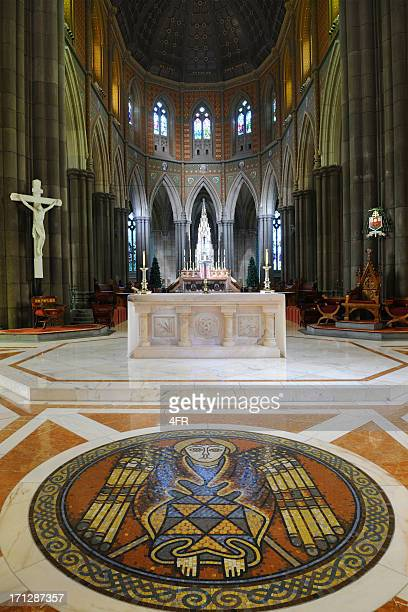 st patricks cathedral, melbourne (xxxl) - cathedral stock pictures, royalty-free photos & images