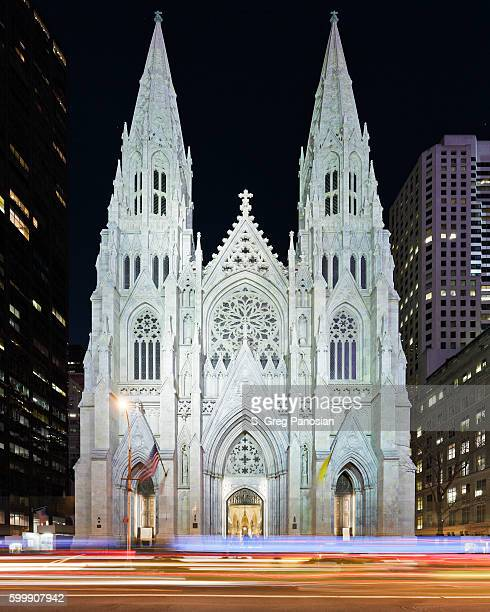 st. patrick's cathedral - new york - st. patricks cathedral manhattan stock photos and pictures