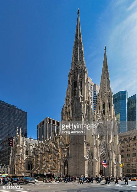 st patrick's cathedral, new york, usa - st. patricks cathedral manhattan stock photos and pictures