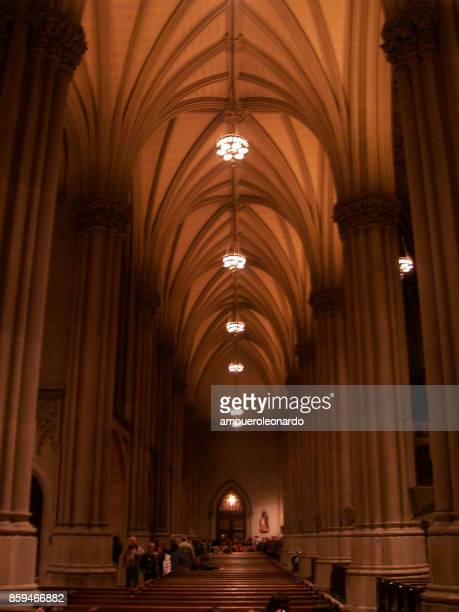 st. patrick's cathedral - catholic church christmas stock photos and pictures