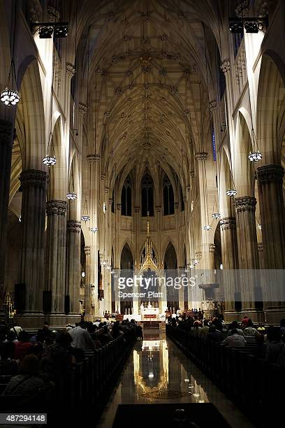 St Patrick's Cathedral the seat of the Roman Catholic Archdiocese of New York is viewed on September 8 2015 in New York City Just in time for the...