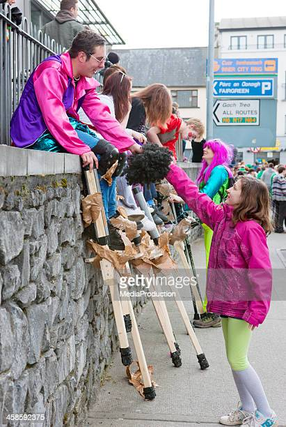st patricks celebrations in galway ireland - county galway stock pictures, royalty-free photos & images