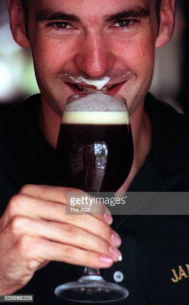 St Patrick's Day 2000 World champion Irish coffee maker Glenn Graham visiting Australia for St Patrick's Day 16 March 2000 The AGE Picture by PATRICK...