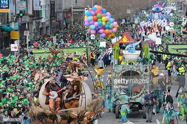 St Patrick's Day 2016 parade Dublin Ireland on Thursday 17 March 2016
