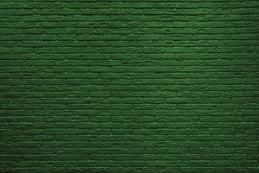 St Patricks Day green brick wall. 1130652182