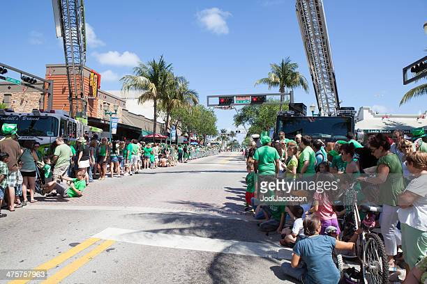 st. patrick's day in delray beach, florida - delray beach stock photos and pictures