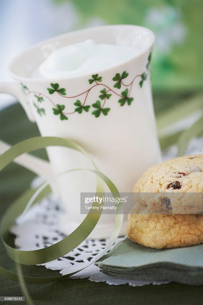 St. Patrick's Day Milk Shake : Foto de stock