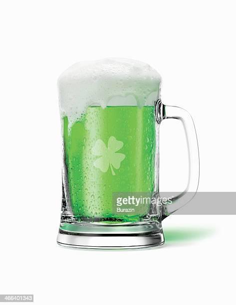 St. Patricks Day mug of green beer