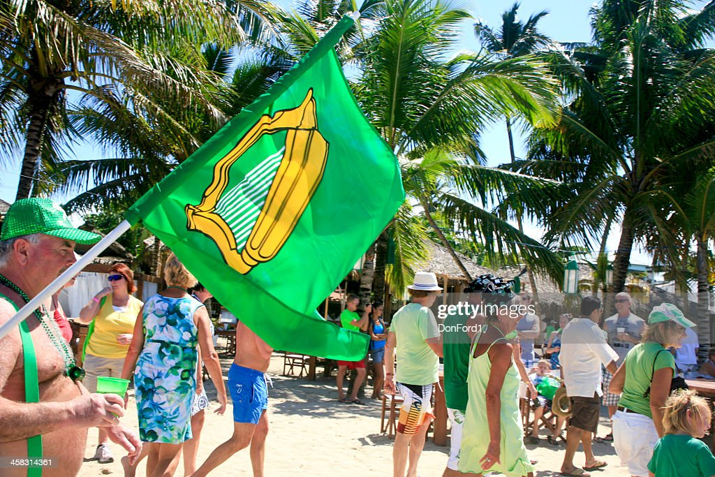 St. Patrick's Day Parade, Cabarete, Dominican Republic : Stock Photo