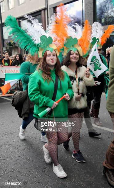 st. patrick's day parade london 2019 - patrick grant stock pictures, royalty-free photos & images