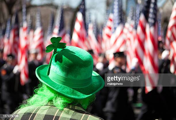 st. patrick's day parade - parade stock pictures, royalty-free photos & images