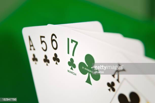 St. Patricks jour carte poker