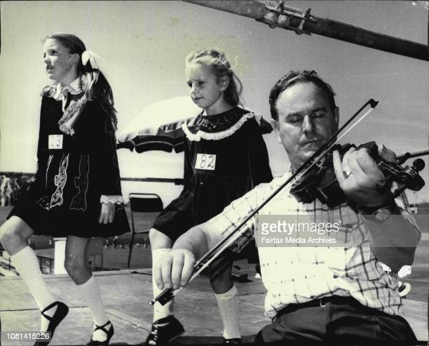 St Patricks Day Sports Viennese Dancing the Soft Shoe Reel to the music of a 150 years old violin played by Mrs Sean Gilroy of Bexley is Mary...