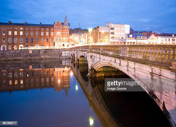 St patricks street bridge and lee river cork
