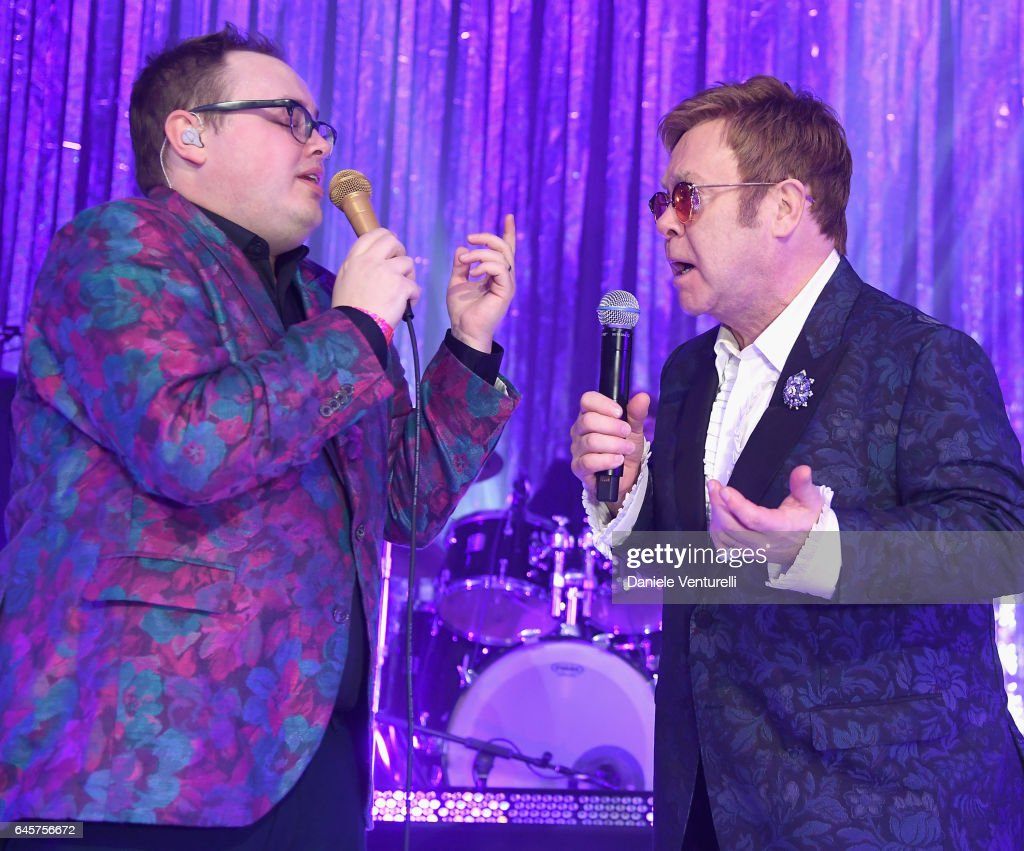 St. Paul and The Broken Bones and Elton John perform onstage during Bulgari at the 25th Annual Elton John AIDS Foundation's Academy Awards Viewing Party at on February 26, 2017 in Los Angeles, California.