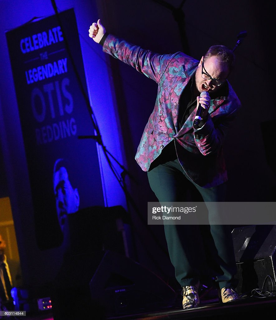 St. Paul and the Broken Bones' Paul Janeway performs during Otis Redding 75th Birthday Celebration at the Macon City Auditorium on September 11, 2016 in Macon, Georgia.