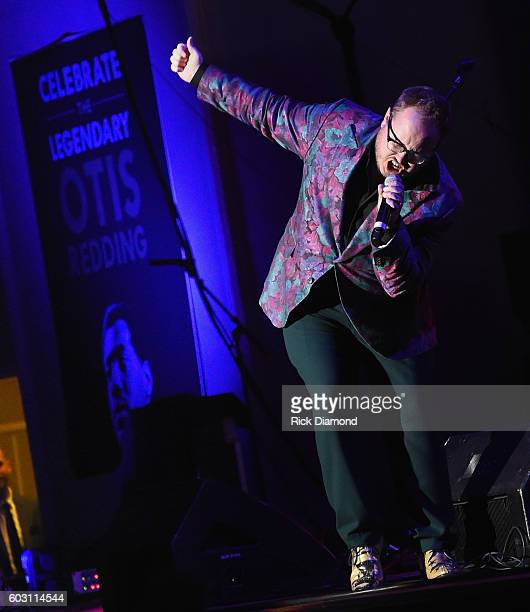 St Paul and the Broken Bones' Paul Janeway performs during Otis Redding 75th Birthday Celebration at the Macon City Auditorium on September 11 2016...