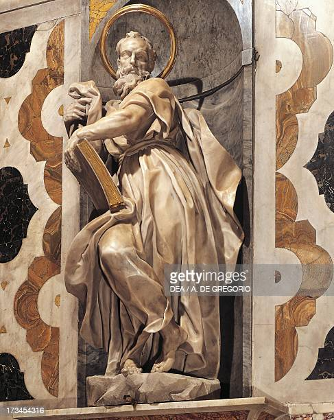 St Paul by Francesco Maria Schiaffino marble statue Basilica of Mary of the Assumption Camogli Liguria Italy 18th century