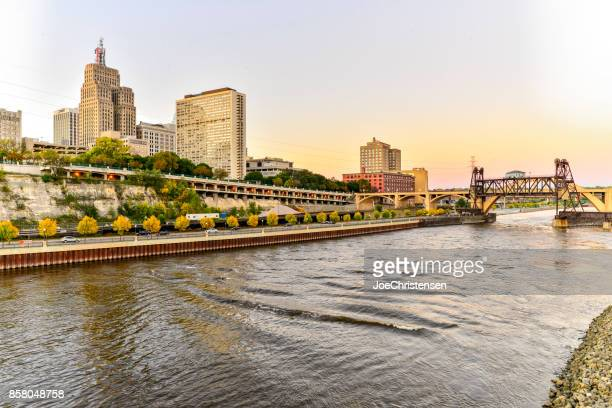St. Paul City Skyline and Riverfront in Minnesota