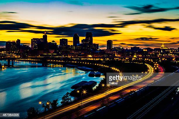 st paul city view - st. paul minnesota stock pictures, royalty-free photos & images