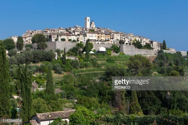 St Paul de Vence cityscape. Provence Alpes-C™te d'Azur. Alpes Maritimes. France. Europe.