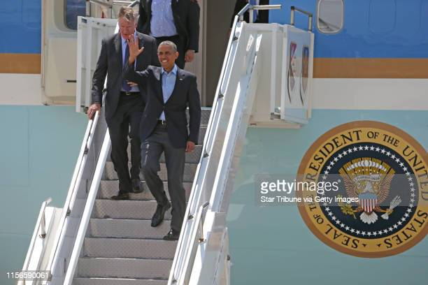 St Paul Mayor Chris Coleman and President Obama arrive at MSP airport on 6/26/14] Bruce Bisping/Star Tribunecom Chris Coleman Obama/source
