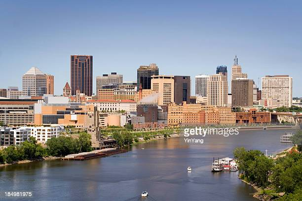 St. Paul, Minnesota Downtown City Urban Skyline and Mississippi River