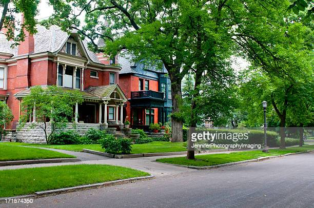 st. paul neighborhood - victorian style stock pictures, royalty-free photos & images